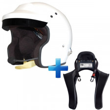 Pack Casco + Hans con Intercom Stilo