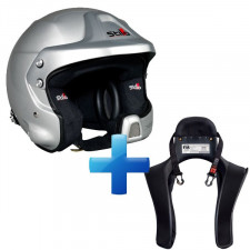 Pack Casco Stilo WRC DES COMPOSITE Rallye + Hans Club Series