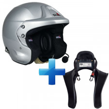 Pack Casco Stilo TROPHY DES PLUS + Hans Club Series
