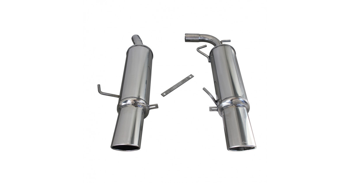 Inoxcar Exhaust Rear Silencer Central 2x120x80 Renault