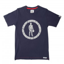 T-Shirt Racing Spirit Icon in Circle 2 Manches Courtes
