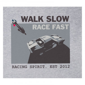 T-Shirt Racing Spirit Walk Slow Manches Courtes