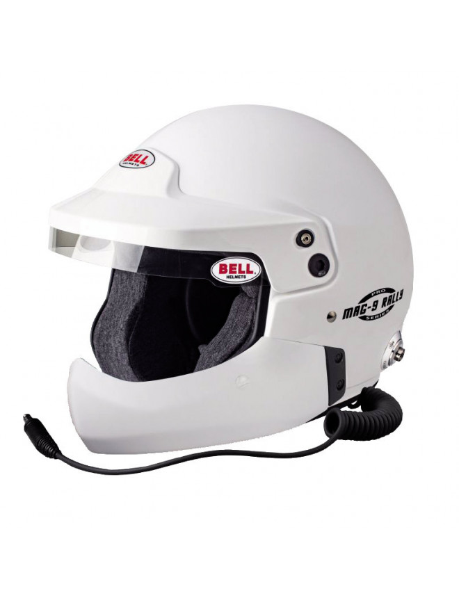 Casque Bell MAG-9 PRO RALLY  HCB et clips HANS