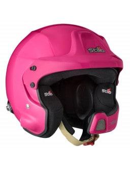 Stilo WRC DES Fiber Helmet Hans Rally SA15 pink