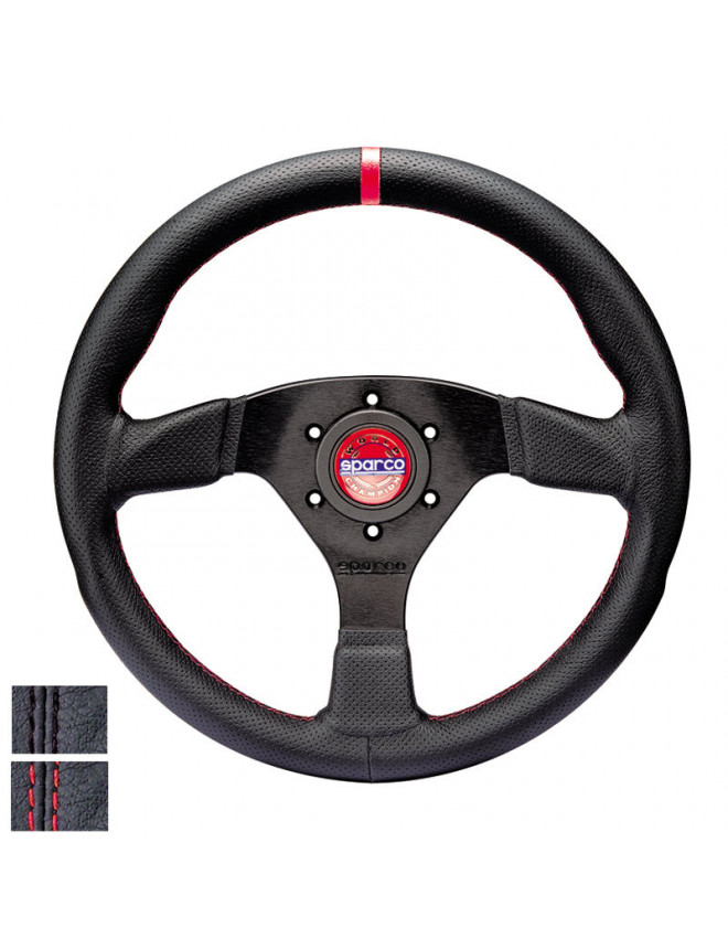 Sparco R383 Champion Flat Steering Wheel in Leather