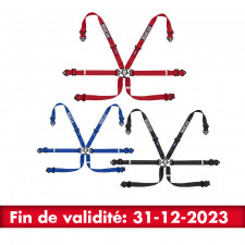 """Sparco 2"""" 6pts Steel Harness FIA Hans 31-12-2023"""
