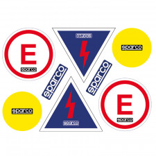 Kit of Sparco Fire Extinguisher/Circuit Breaker Stickers