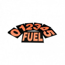 obp Standard Pit Board Numbers High-Visibility ORANGE