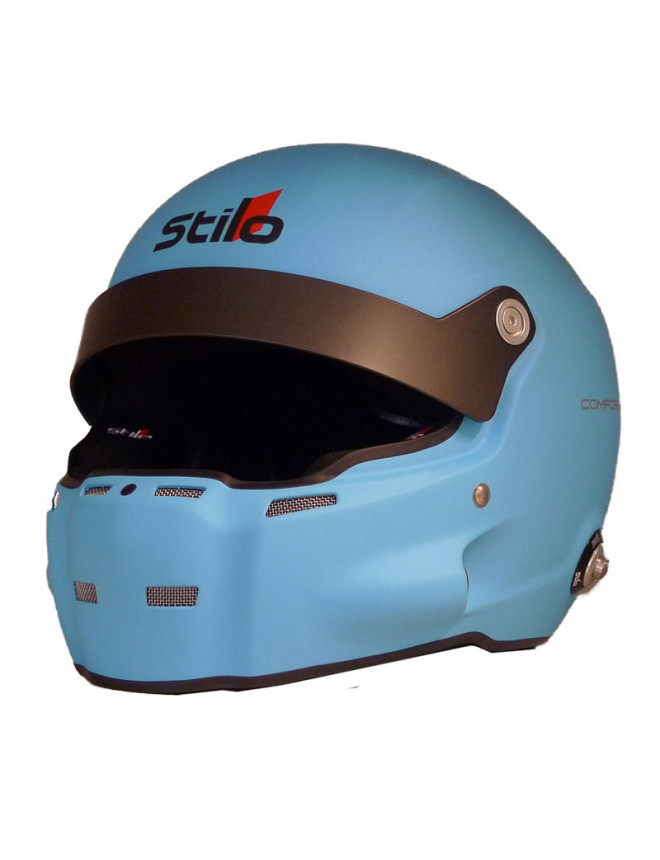 Casque Stilo ST5 R Fibre Hans + Intercom SA15 bleu