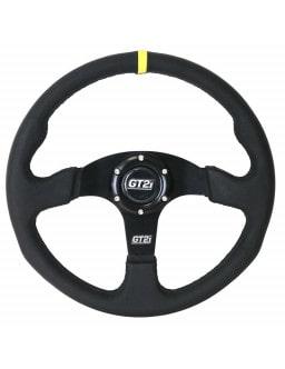 Volant GT2i Race Cuir Noir/Noir Plat