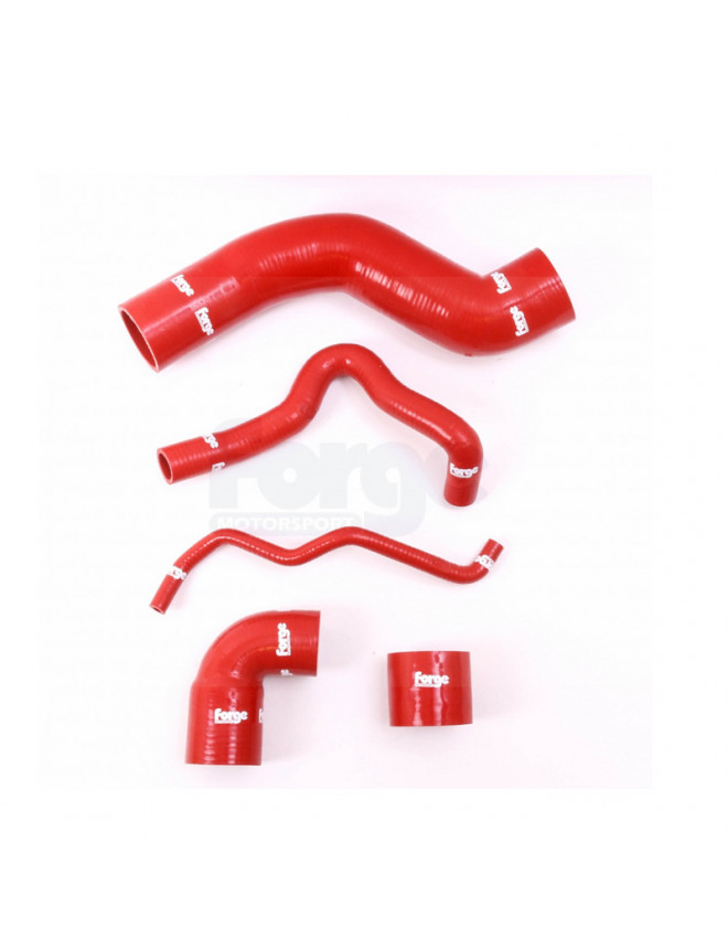 Forge turbo hoses Volkswagen Golf 1.8T 180CV red 5 parts