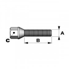 14x150mm conical bolts Length 40mm head 19mm