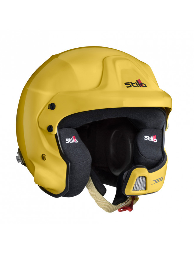 Stilo WRC DES Fiber helmet Hans Rally SA15 yellow
