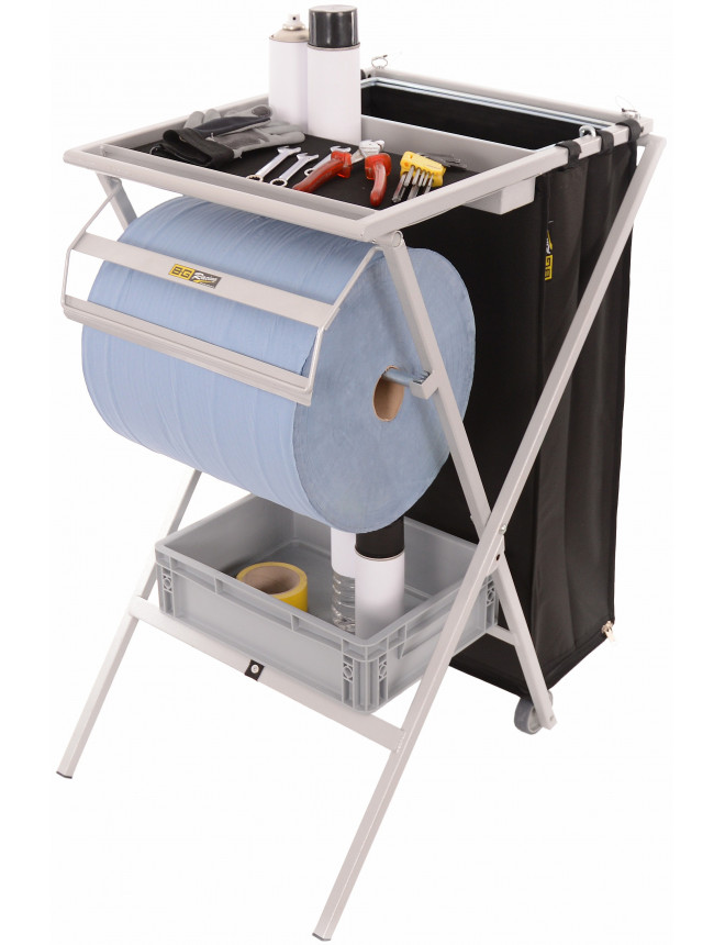 BG RACING Folding utility work station - GREY Powder coated
