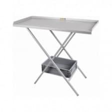 Table acier pliante grise - image #
