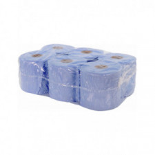 BG RACING Blue paper towel roll (x 6) 2 PLY - 19cm x 19cm - 400 SHEETS - image #