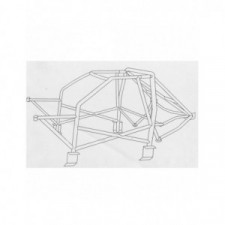 SPARCO rollcage for Ford Escort Cosworth 4x4 from 1992 to 1996 - image #