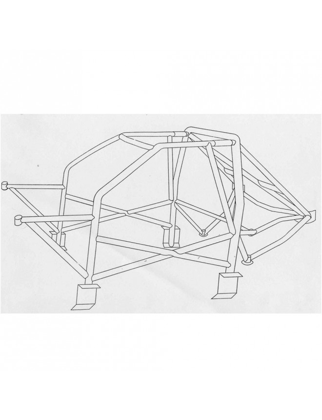 SPARCO rollcage for Ford Escort Cosworth 4x4 from 1992 to 1996