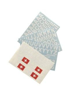 Planche adhésif Lettres/Chiffres/Drapeau Suisse