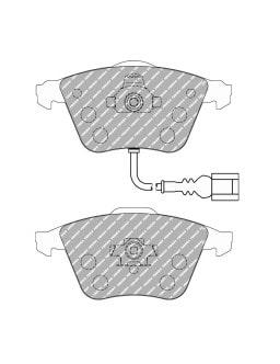 Plaquettes de frein Ferodo DS Performance avant pour AUDI A3 3.2 quattro 09.05 - 12.09 étrier ATE