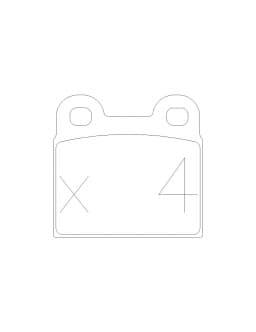 Plaquettes de frein GT2I Race arrière SAAB 99 2.0 EMS 09.74 - 12.78