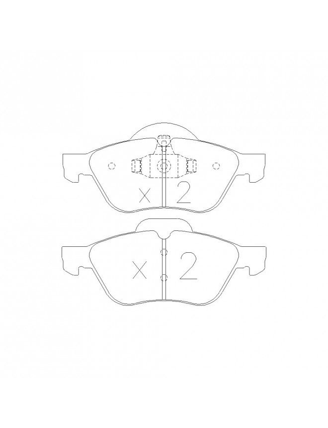 GT2I Race front brake pads for RENAULT Twingo 1,6 16 / R2