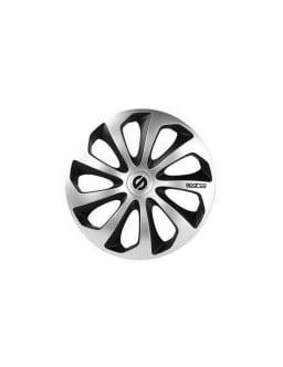 4 enjoliveurs de roues SPARCO SICILIA 16 gris/noir