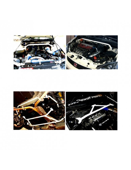 Bretelle inférieure médiane latérale et Arrière Honda Civic 01-05 2/4D / Stream 07+  4 points