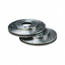 BRATEX Group A brake discs perforated grooved Hyundai Getz ss ABS Front 241x19mm - image #