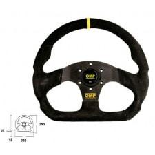 OMP Superquadro Black Steering Wheel 330mm