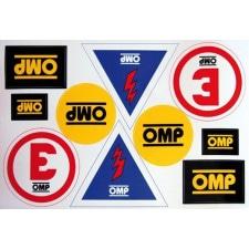 Planche Autocollants OMP Extincteur / Coupe-Circuit