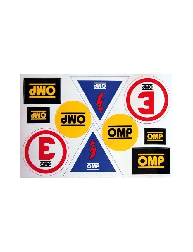 OMP Stickers plate for Fire extinguisher / Circuit breaker