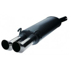 Rear Exhaust / Muffler Opel Tigra 1.4 16S Round outlet DTM