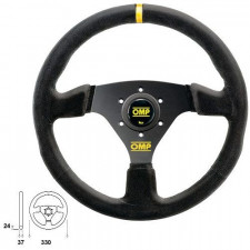 OMP Targa Black Steering Wheel 330mm