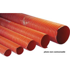 Gaine V9 Silicone Silicon Hoses 250°C 63mm Orange -1m