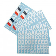 Adhesive Board Letters / Numerals / Flag Driver and Co-driver Name