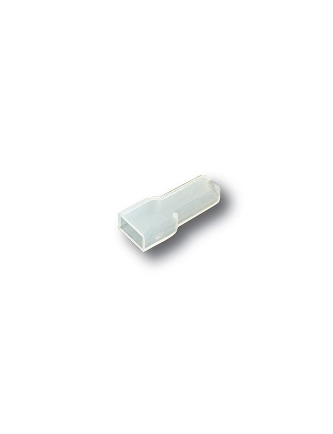 Female insulating terminal covers for 6.3mm connectors. (200 pcs)