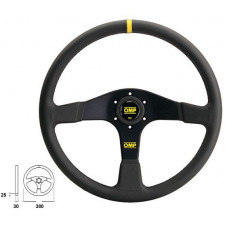 OMP Velocità Black Leather Steering Wheel 380mm