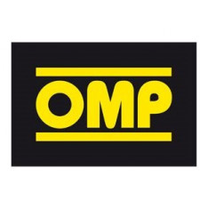 Sticker OMP 78x52mm Yellow Black Background