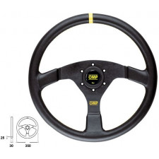 OMP Velocità Black Leather Steering Wheel