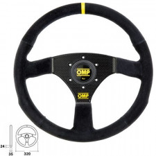 OMP 320 Carbon S Steering Wheel Suede 320mm Flat 460g