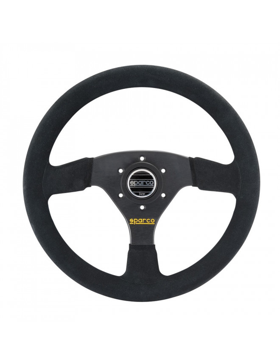 Sparco R323 Black Suede Steering Wheel
