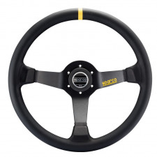 Sparco R345 Black Leather Steering Wheel