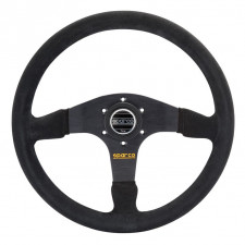 Sparco R375 Steering Wheel Black Suede