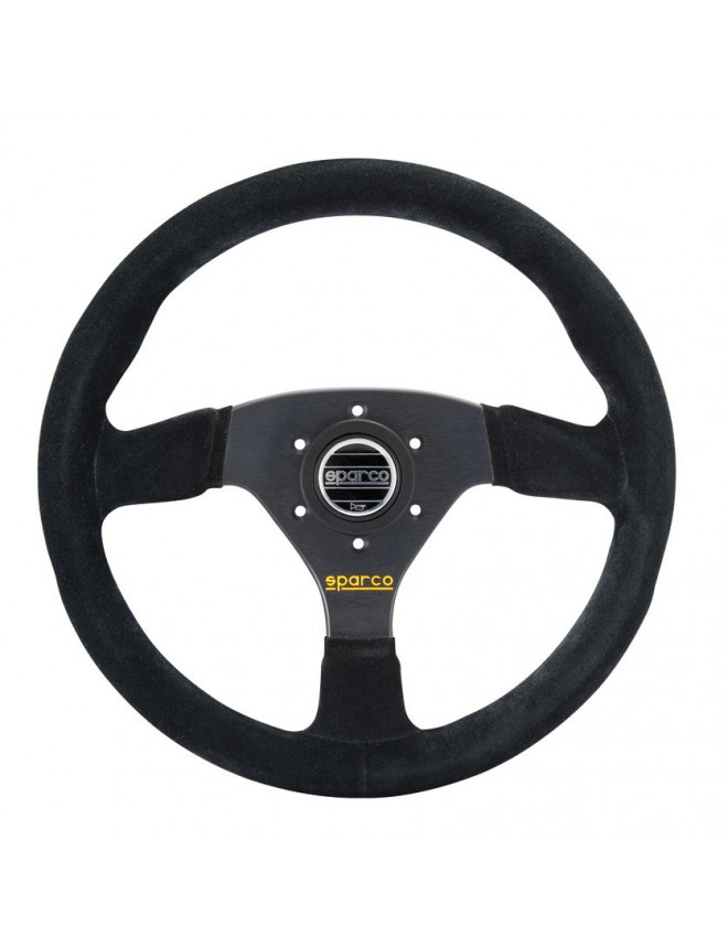 Sparco R383 Black Suede Steering Wheel