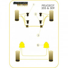 Powerflex Bushing Black Anti-Roll Bar 17mm Peugeot 205 / 309 GTI (2 Pieces)