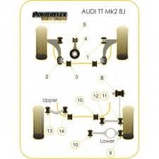 Powerflex Bushing Black Lower Engine Mount AudiT TT M (1 Piece)