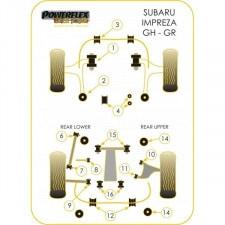 Powerflex Bushing Black Rear Rear Tie Bar Front Bush Subaru 07-10 / 08-10 (2 Pieces)