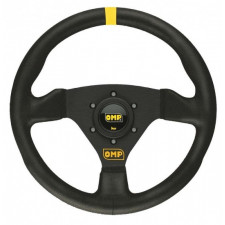 OMP Trecento Black Leather Steering Wheel 300mm