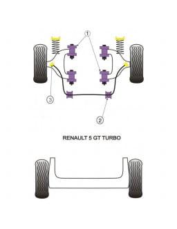 Powerflex Bushing Front Lower Wishbone Bush Renault R5 GT Turbo (4 Pieces)